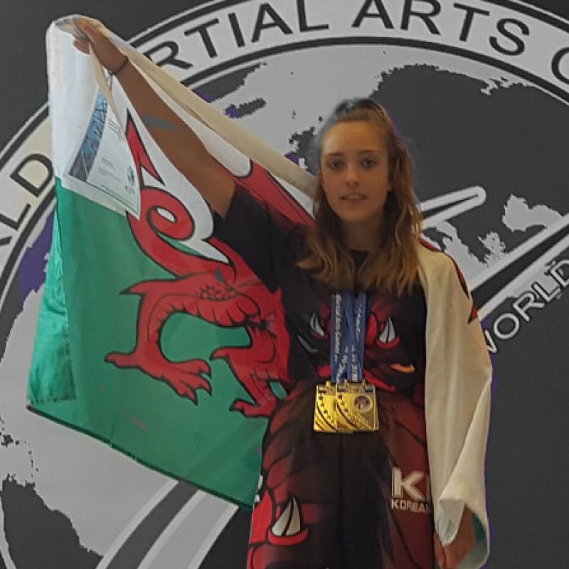 Competing for Wales